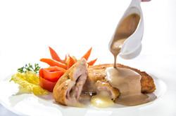 Traditional Chicken Cordon bleu.
