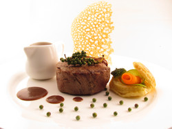 Filet of beef with kampot pepper sauce