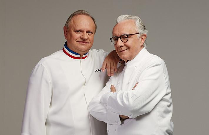 Chef Joel Rebuchon and Chef Alain Ducasse