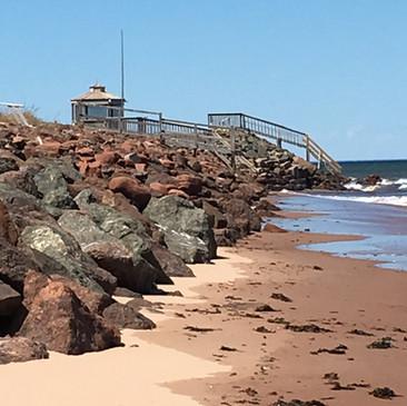 The beach at Ocean Ridge Beach House Cottage