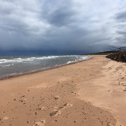 Pleasant sandy beach for walking or playing