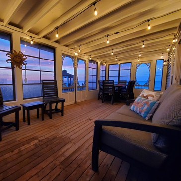 Roomy screened-in porch