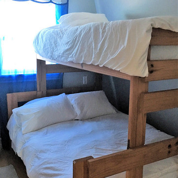 Kids room double and single bunk beds