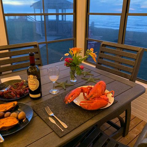 Enjoy local seafood