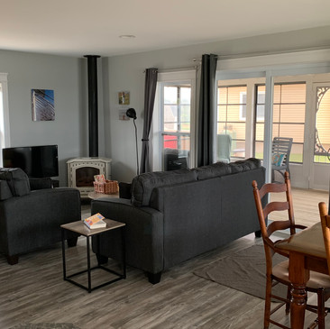 New comfy furniture and indoor dining for 8