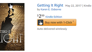 """""""Getting It Right"""" Featured in Kindle Monthly Deals"""