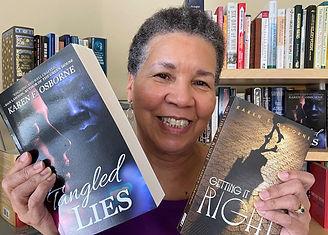 Karen with both books.jpg