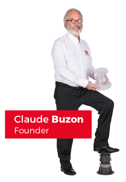 Claude Buzon, the founder of the company, and highly creative inventor