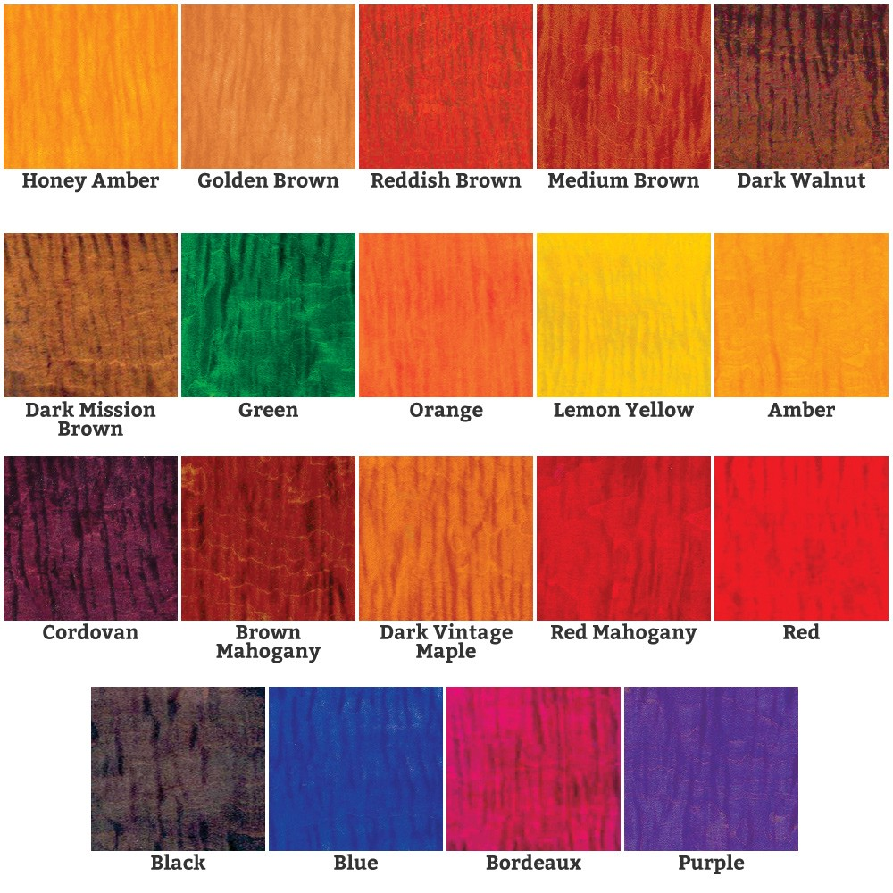 AAA Trans tint dye color chart