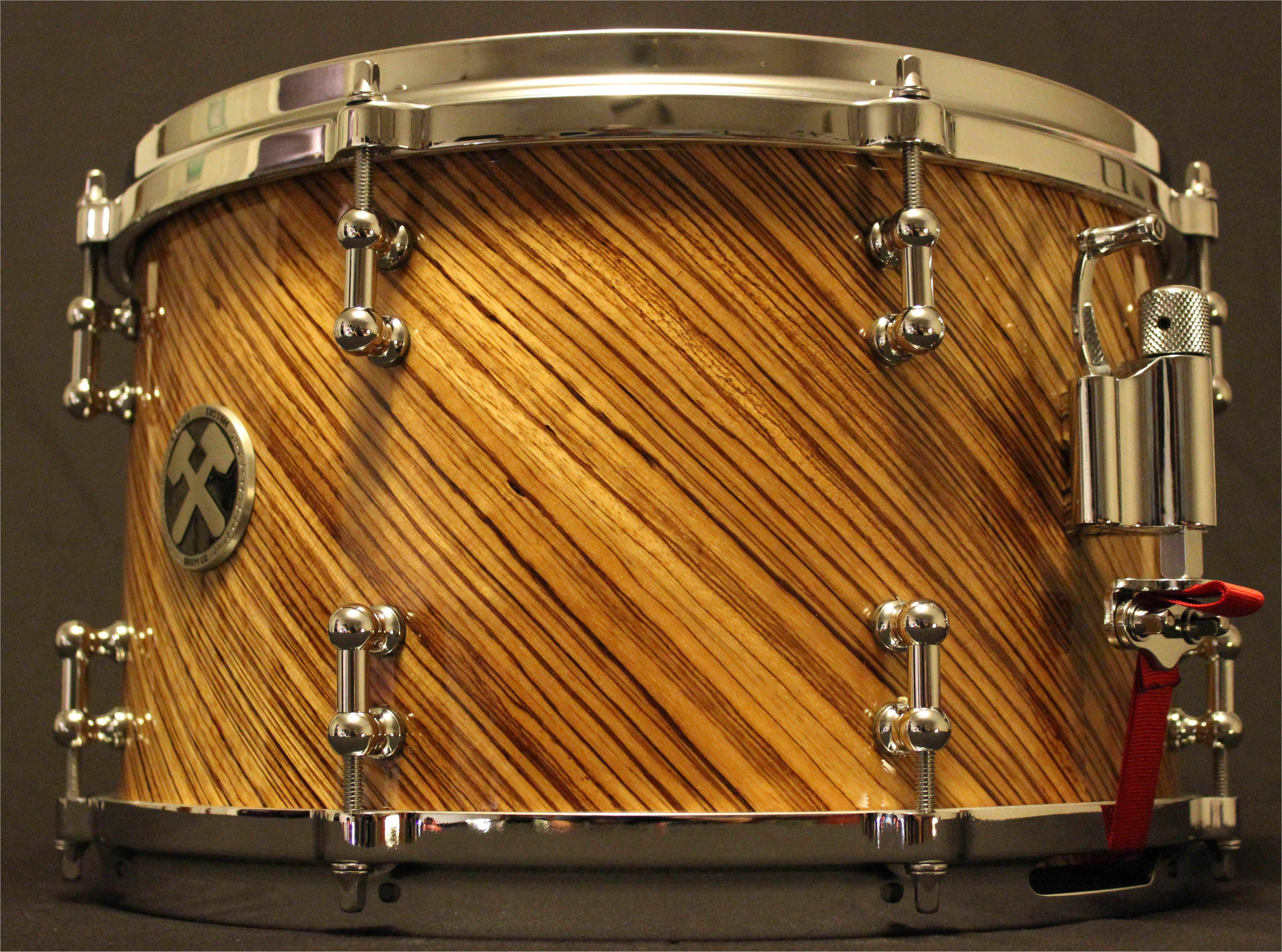 8x13 Maple w/re rings
