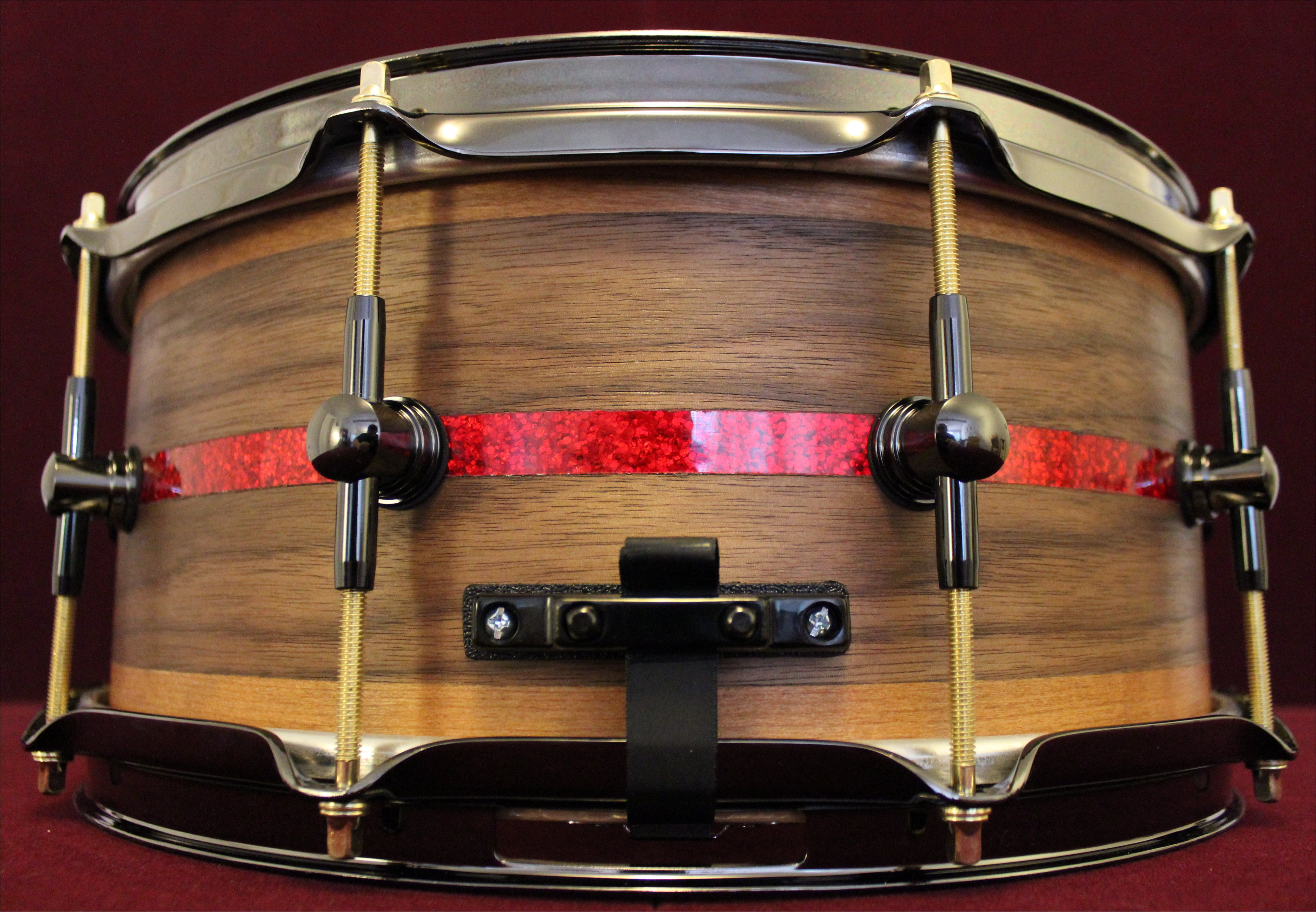 Walnut Cherry Veneer and Red Sparkle
