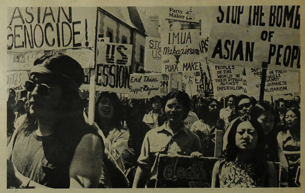 Image of Asian American anti-war march