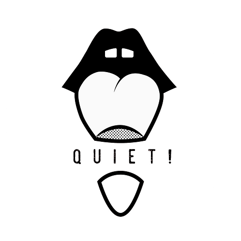 White QUIET! Button