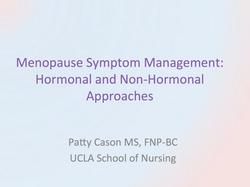 Menopause Symptom Management