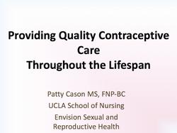 Quality Contraceptive Care