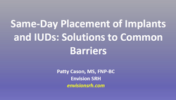 same day placement of implants and iuds.
