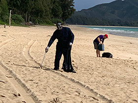 UCE Ohana Cleans Up The Beach