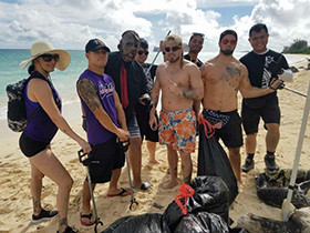 August Beach Clean Up Photos With UCE Wrestlers