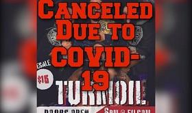 Turmoil Show Canceled