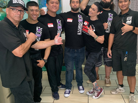 UCE Wrestling Volunteers at Soup Kitchen