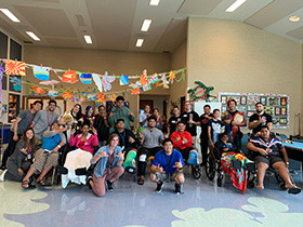UCE Wrestling visits Shriners Hospital