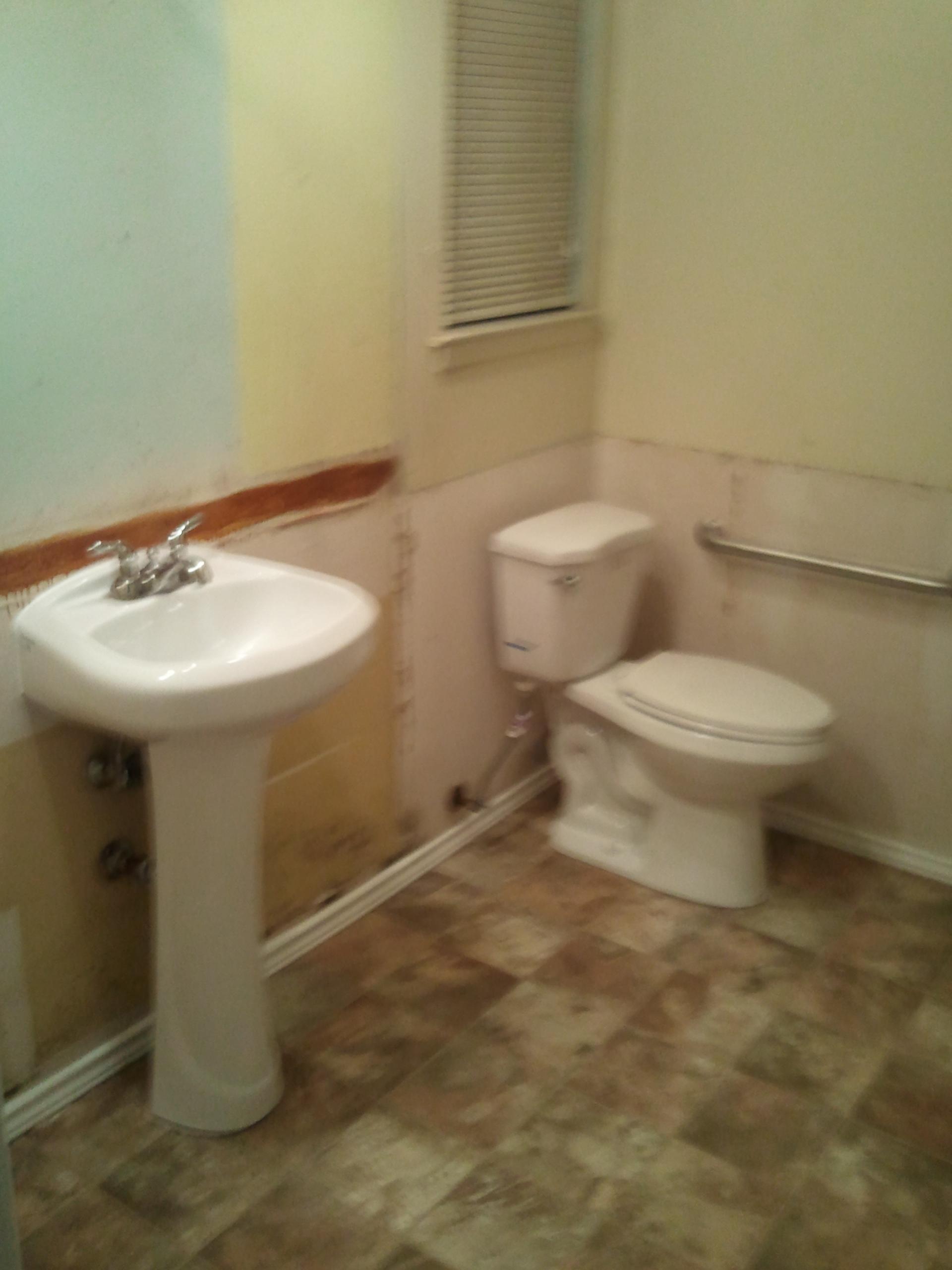 Job 2 New Toilet & Sink & Vinyl floor