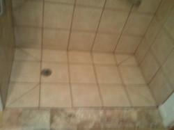 Job 1 New Custom Shower Floor