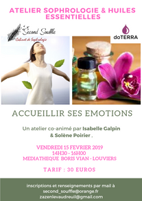 Affiche Atelier sophro huiles essentiell
