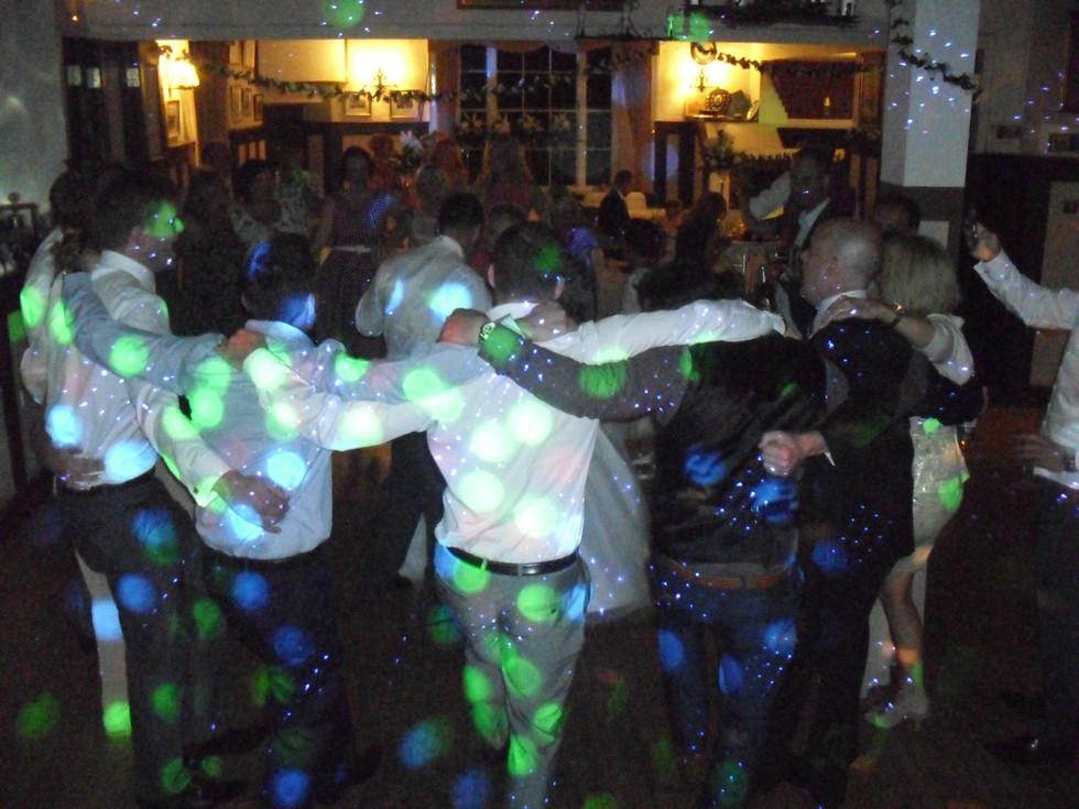 People enjoying dancing