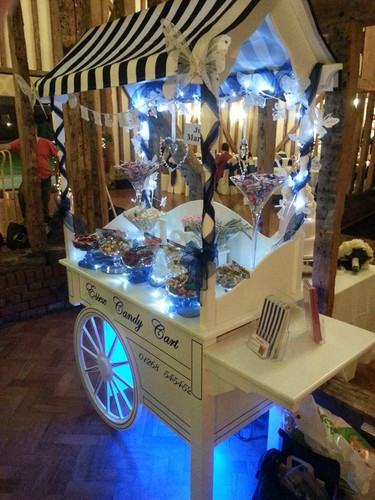 sweet cart decorated blue