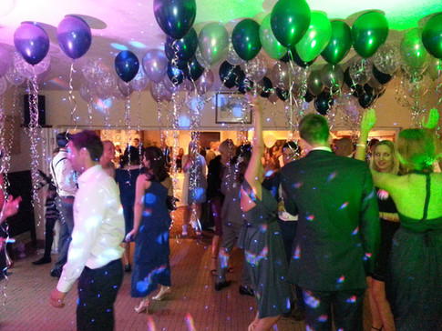Birthday party with balloons