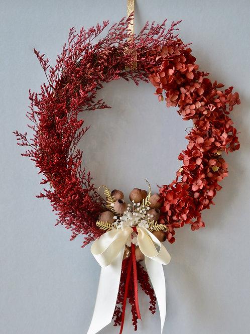Welcome Santa Natural wreath