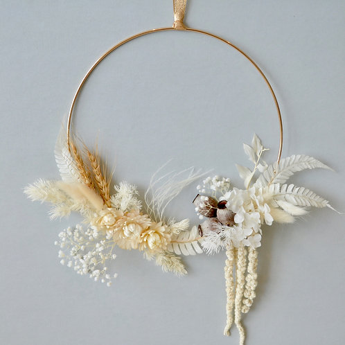 White and Gold wreath