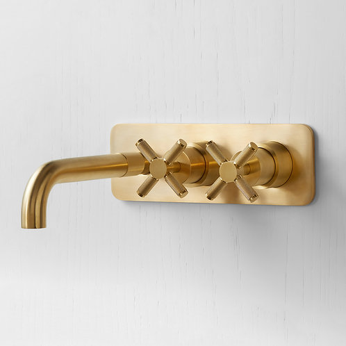 TURA WALL MOUNTED CROSS DESIGN BASIN TAP