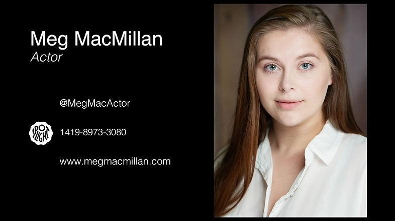 Meg MacMillan - Showreel