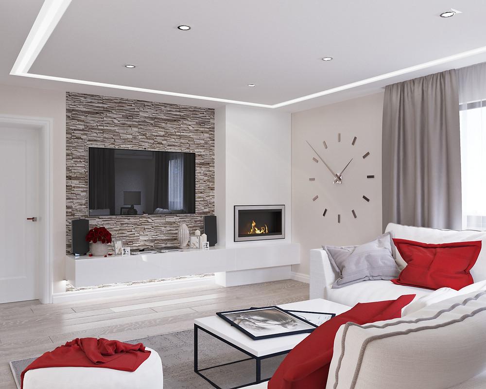 Culorile în designul interior, crem, maro, roșu