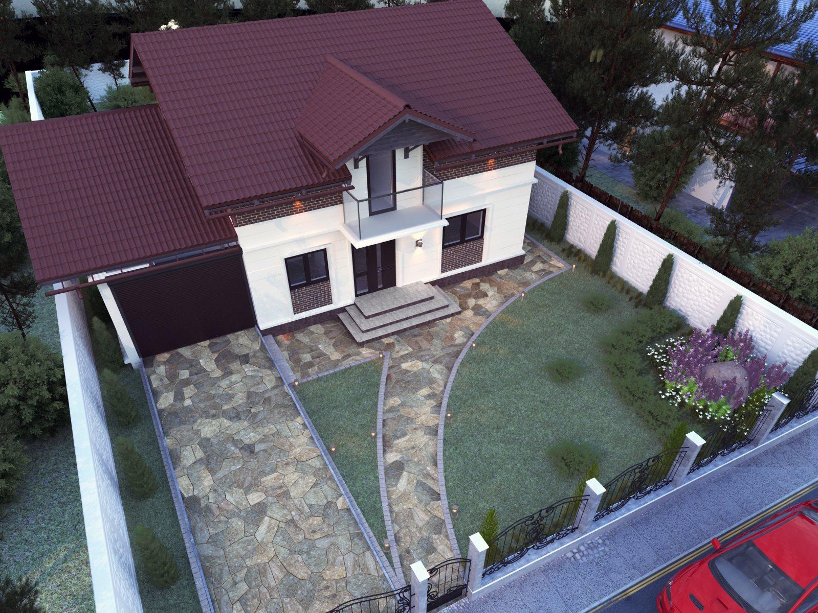 Design exterior casă la curte