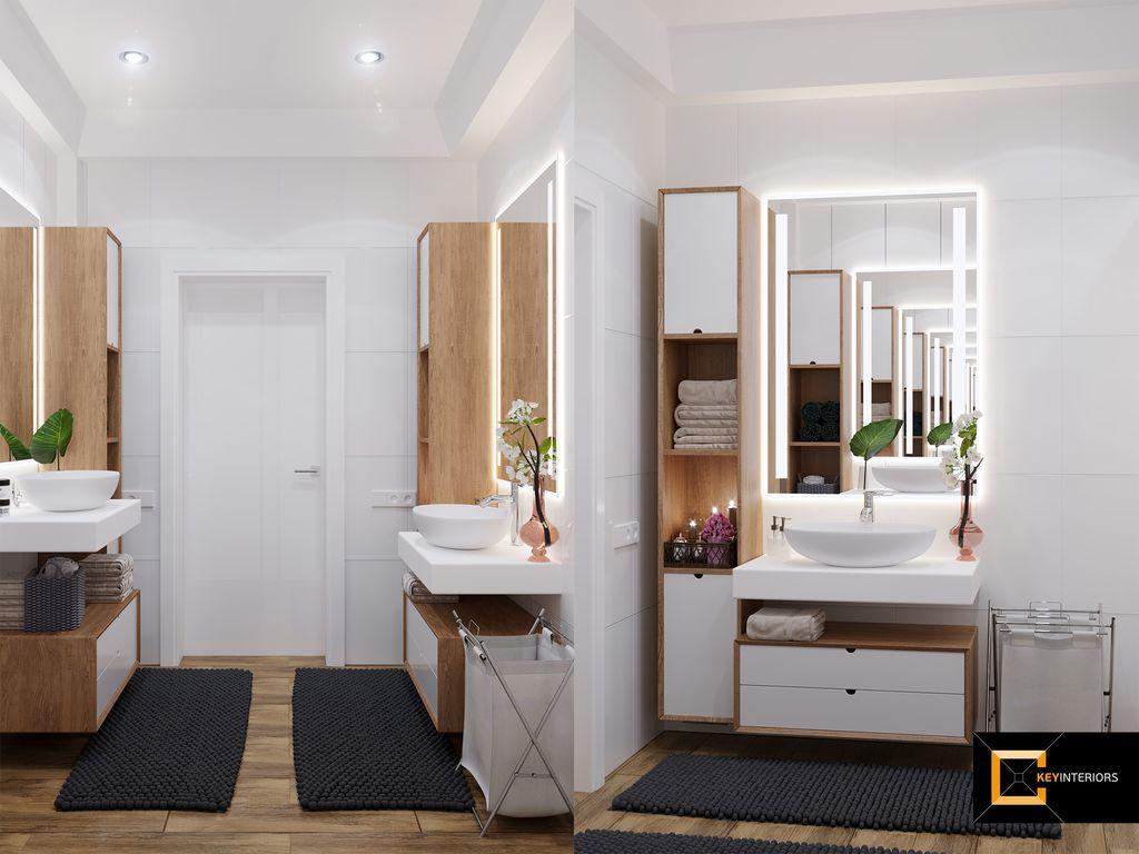 Design interior, baie dublă