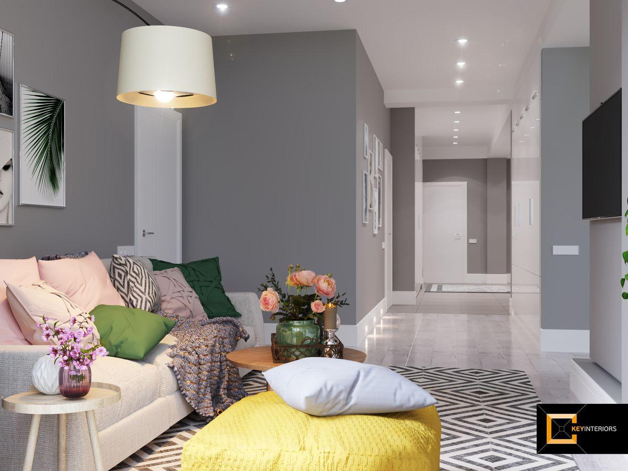 Apartament, canapea, interior design