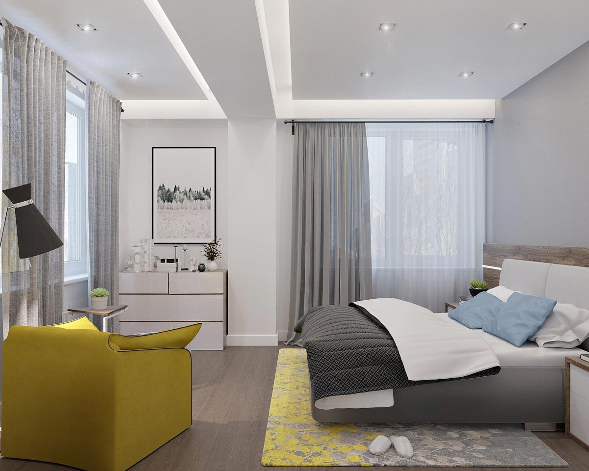Dormitor cu spațiu pentru lectură