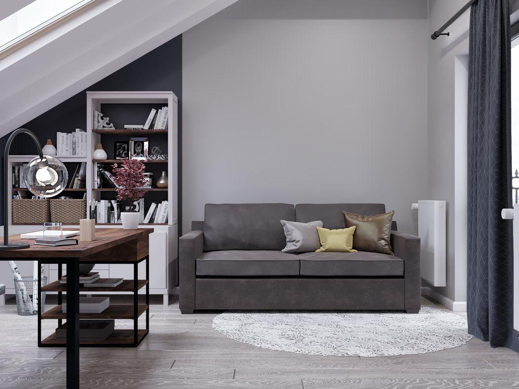 Canapea extensibilă gri