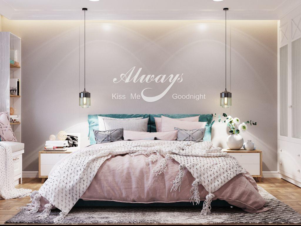 Dormitor în nuanțe pastelate