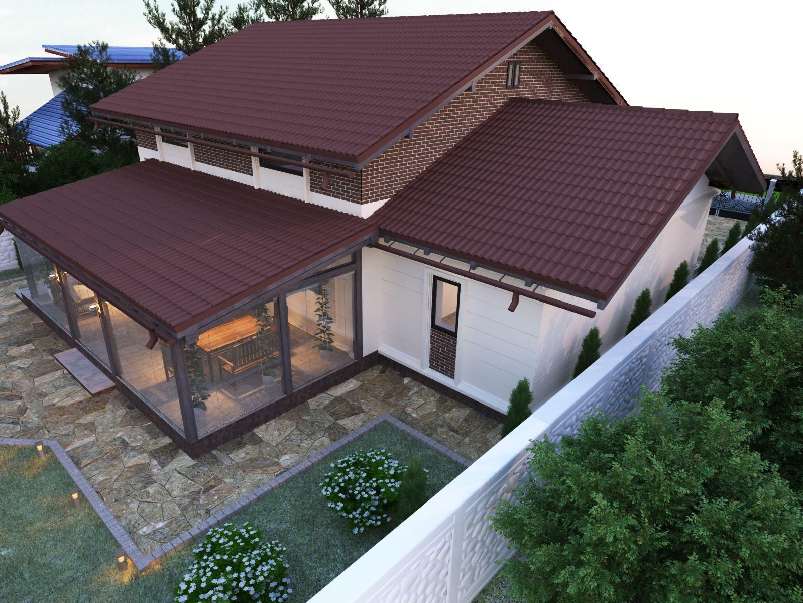 Design exterior casă cu terasă