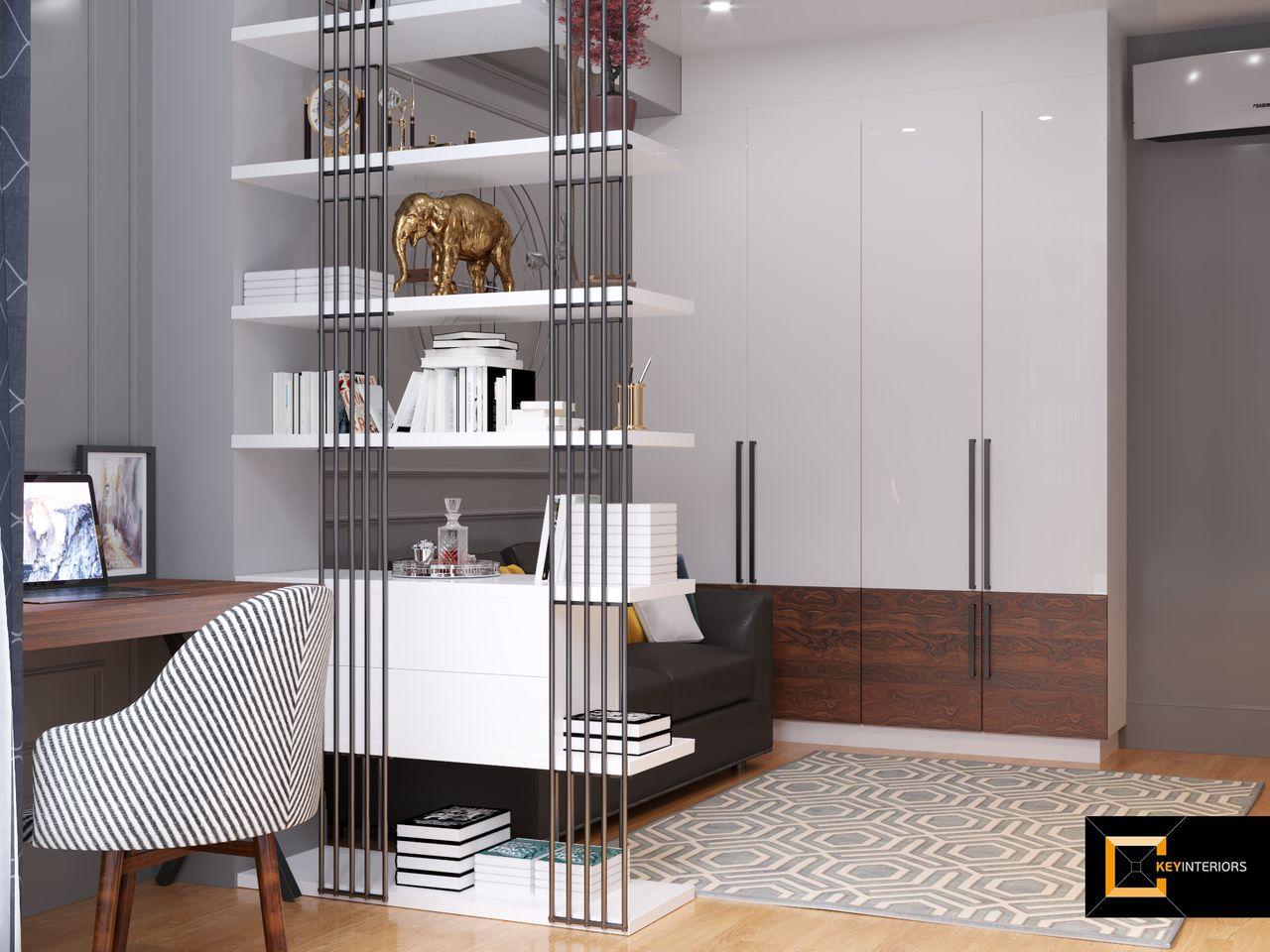Design interior, bibliotecă, casă