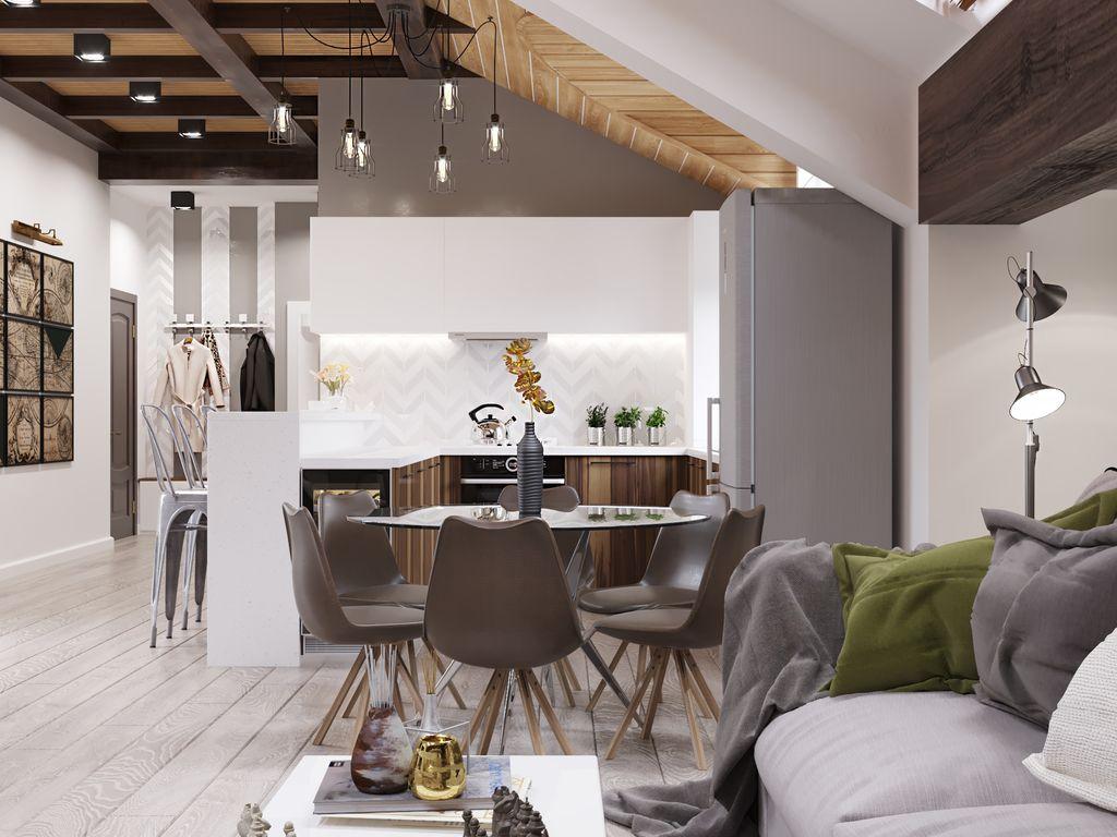 Bucătărie stil loft