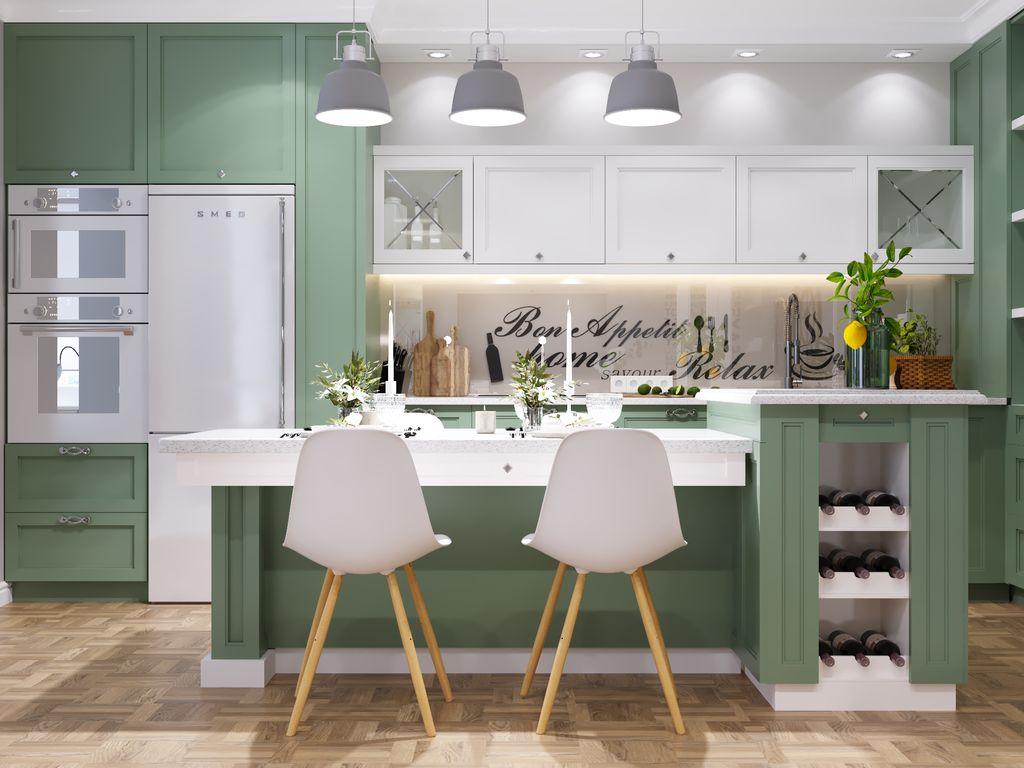 Scaune stil scandinav la bucătărie