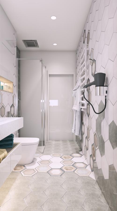 Baia cu cabină de duș
