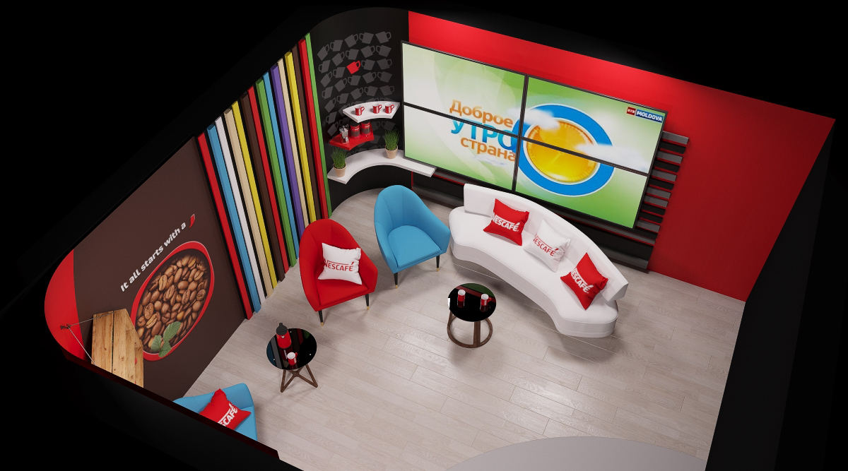 Design interior studio TV