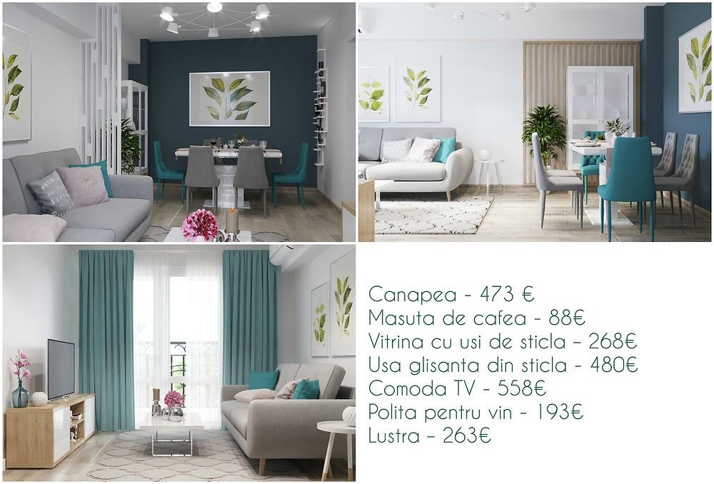 Preț design interior living