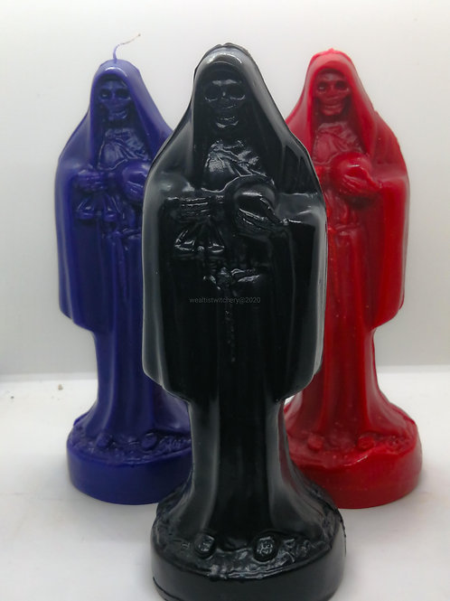 Santa Muerte Beeswax Candle